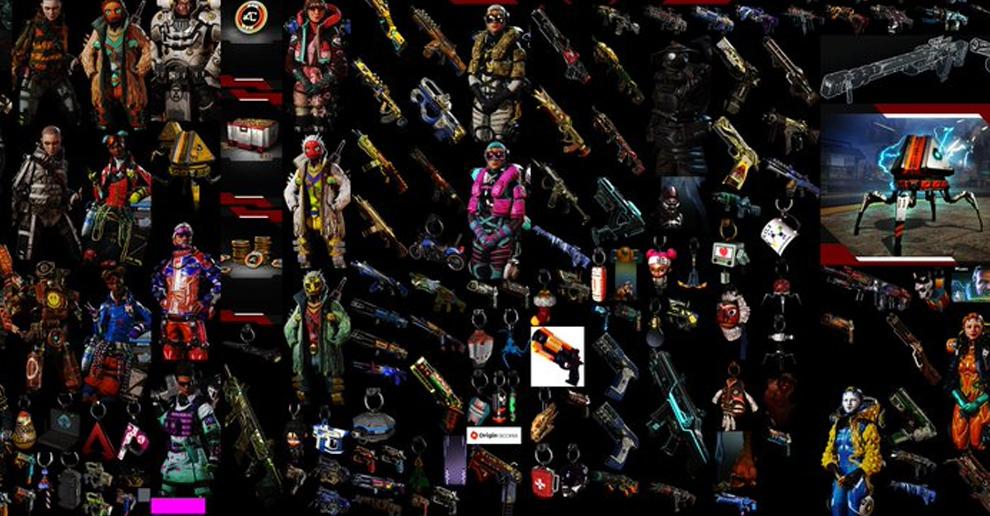 Mnóstwo nowych skinów i przedmiotów kosmetycznych w nowej aktualizacji Apex Legends